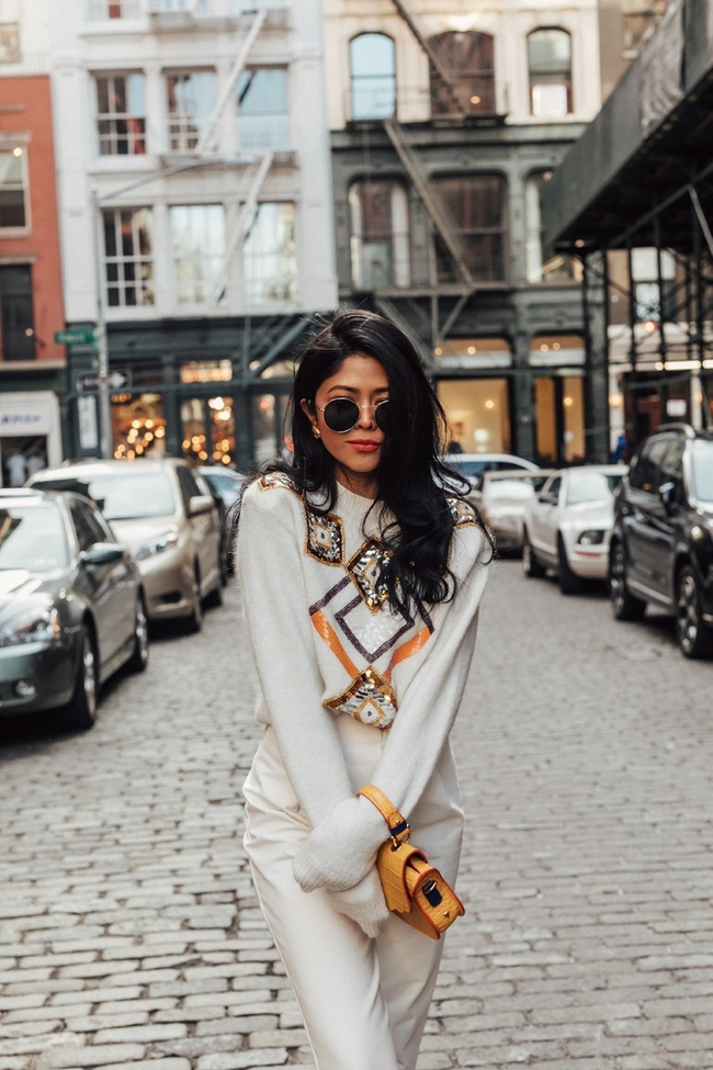 Shop the latest @walkinwonderland in And Other Stories, Embellished Cropped Sweater