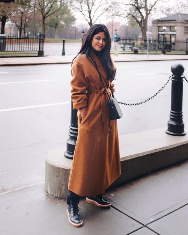 Shop the latest @walkinwonderland in , Belted Wool Blend Coat