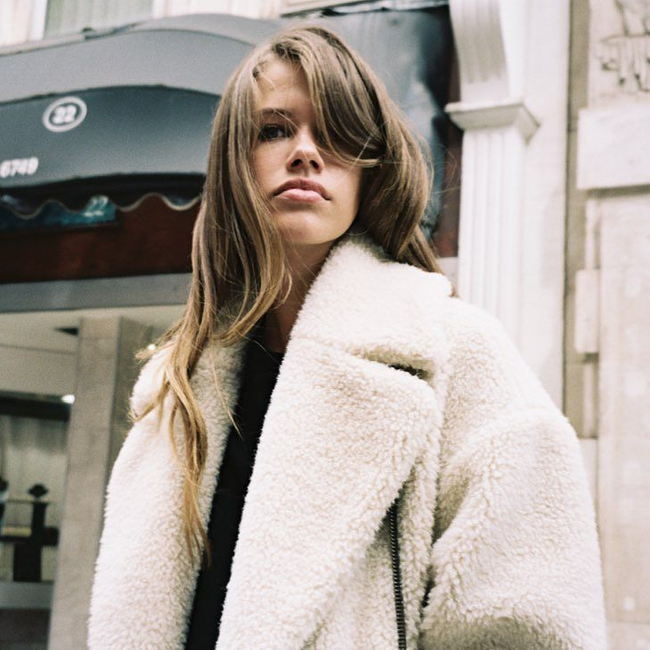 Shop the latest @stlkeditors in TopShop, PETITE Boucle Slouch Coat - Cream