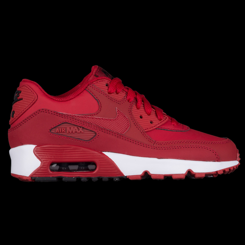 Modern comfort meets retro style - this boys' Nike Air Max 90 has everything you need in your shoe rotation. The upper provides durable support and a premium look while the extra cushioning in the collar gives extra comfort where you need it the most. And you can't forget about the Max Air technology! This innovative air gives the shoe a perfect amount of cushioning and shows off that classic style everyone loves. The waffle-inspired pattern on the outsole gives the sneakers the traction and durability you expect from a high-quality kick. Leather, suede, and/or synthetic upper offers a superior look with the durability you need. Additional padding in the collar and ankle enhances comfort. Added eyestays for customizable lacing options. Synthetic overlays enhance the stability and add support. Max Air unit in the heel gives the perfect amount of impact cushioning, while offering a classic look. Full-length polyurethane misole provides durability, stability, and cushioning for all day comfort. Waffle pattern on outsole ensures durable traction to prevent slippage. Flex grooves allow the outsole to move with your foot, allowing for a natural range of motion. Split in the heel helps spread force evenly during impact.
