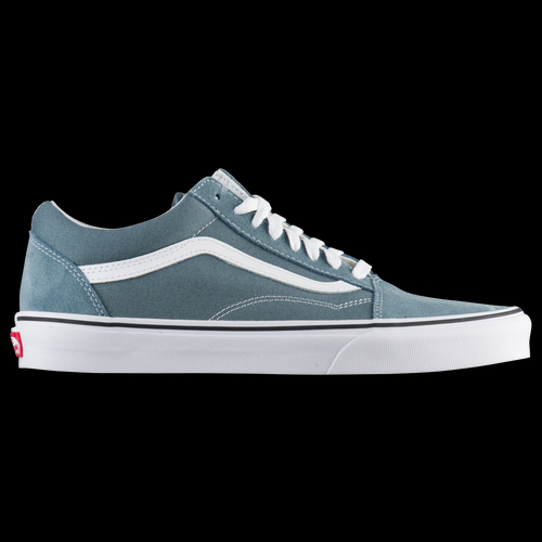 Step back in time in order to step up your style in these men's Vans Old Skool. No other shoe embodies the iconic Vans style like the original. These timeless kicks were the first to feature the signature sidestripe and brought skateboarding shoes into the mainstream. Classic Vans style shows off in the canvas and suede upper with sidestripe. Toe-box and double stitching enhance durability at key skate points. Padded collars provide support and comfort at the ankles. Midsole cushioning for comfortable all-day wear. Waffle grip rubber outsole for traction and durability.